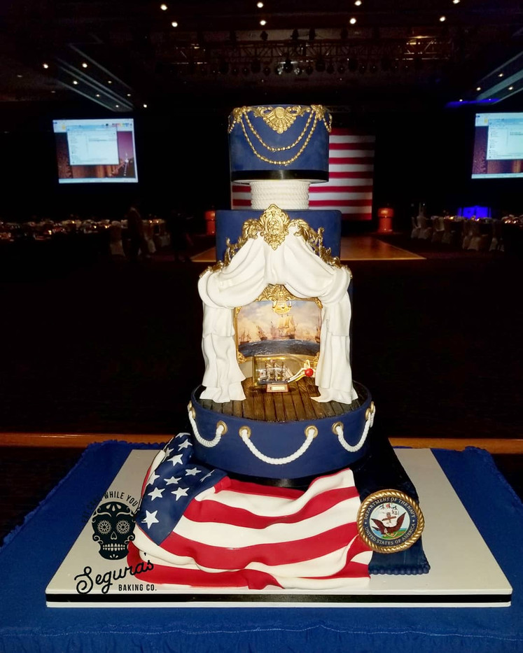 Military Ball Cake