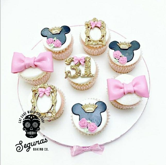Royal Minnie Cupcakes