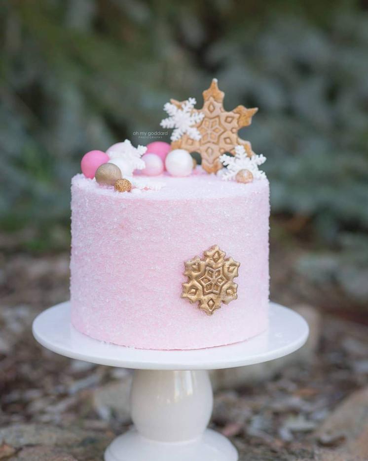 Pink Winter Smash Cake
