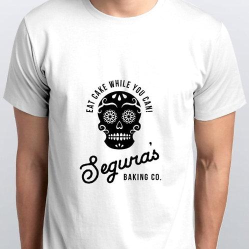 White Men's Shirt With Full Logo