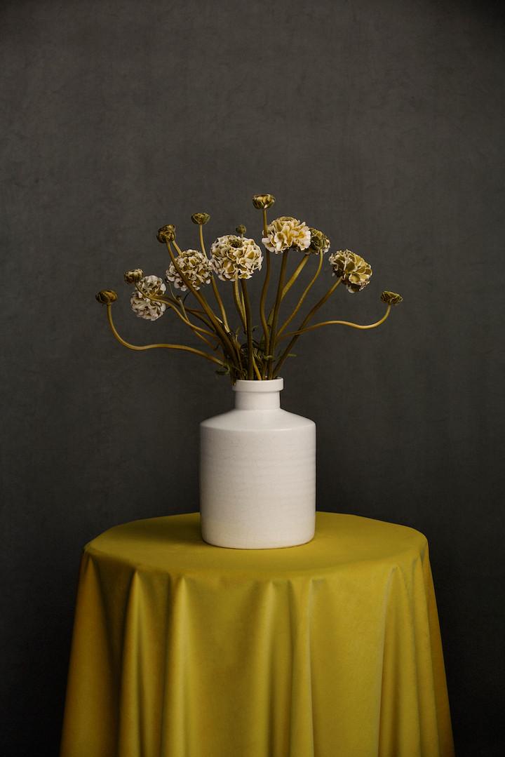 Ranunculus in white vase_Ilona Langbroek