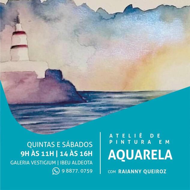 Curso de Aquarela Vestigium