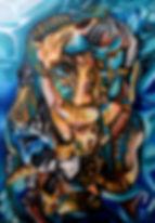 Pintura da Artista Plastica Renata Holanda para venda em prol da APATA ( Entidade de Proteção Animal que atua em Fortaleza Ceará)