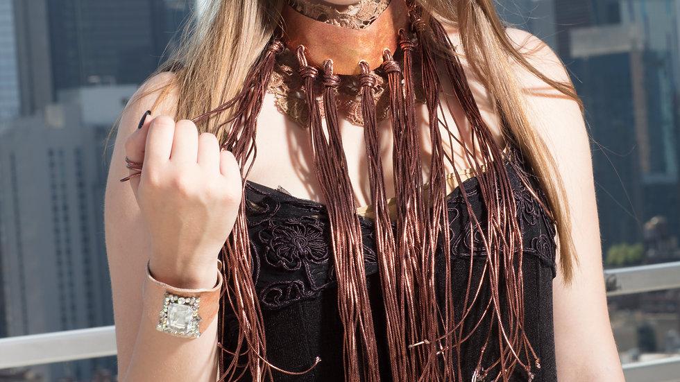Oversized Fringe Necklace