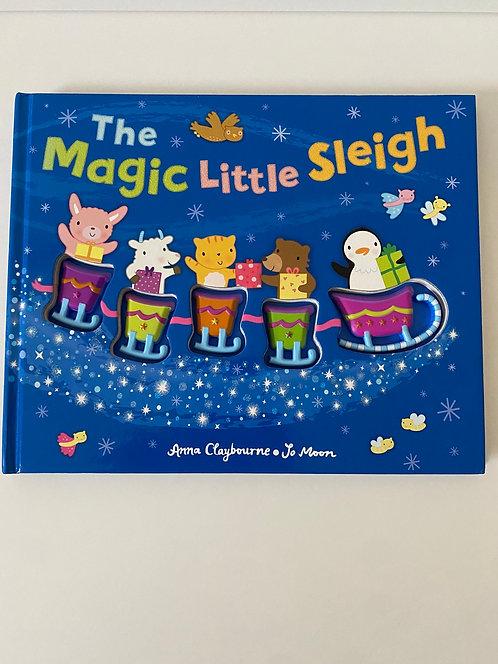 The magic little sleigh sensory touch book