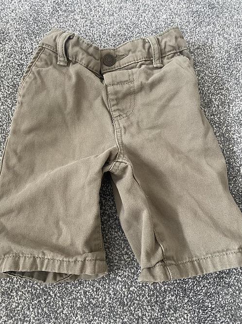 Khaki shorts 18-24months