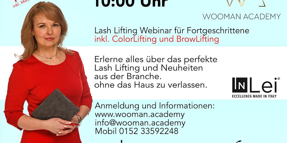Lash Lifting Online Webinar für Fortgeschrittene