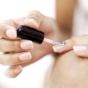 Nails having polish applied