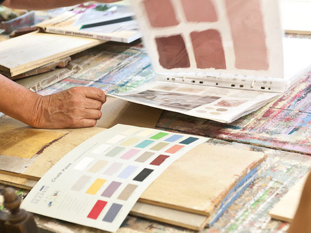 Want to learn DESIGNER paint techniques on furniture AND fabric? Sign up for Adult Ed at Bunny's
