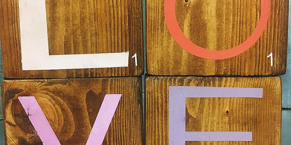 LOVE?HOME Scrabble Blocks $45