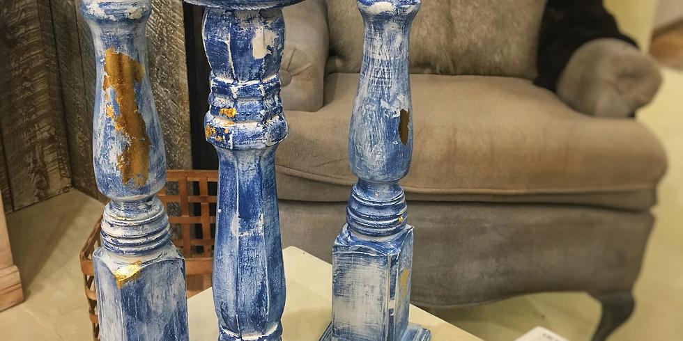 Pedestal Candles $48