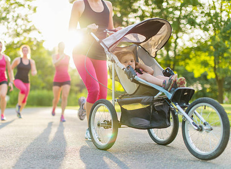 To all the Moms and Dads out there who run with a stroller!