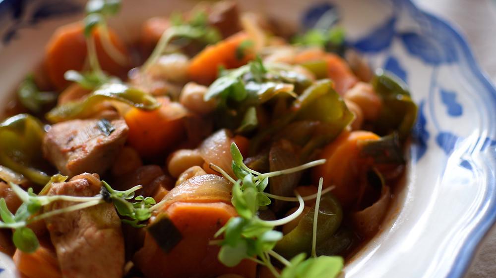 Curry de pollo de la Olla