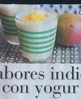 News de sabores indios con yogur- Revist