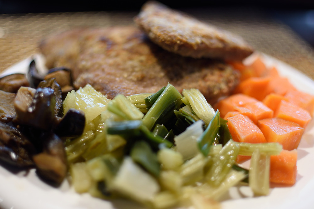 Milanesa con vegetales