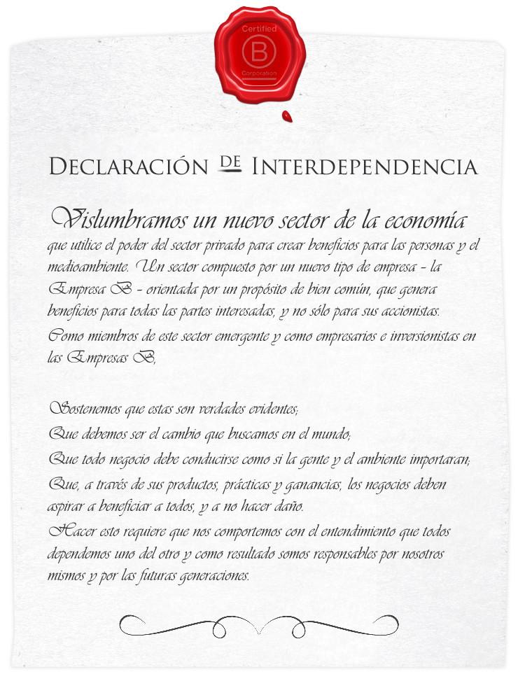 Declaración de Interdependencia B
