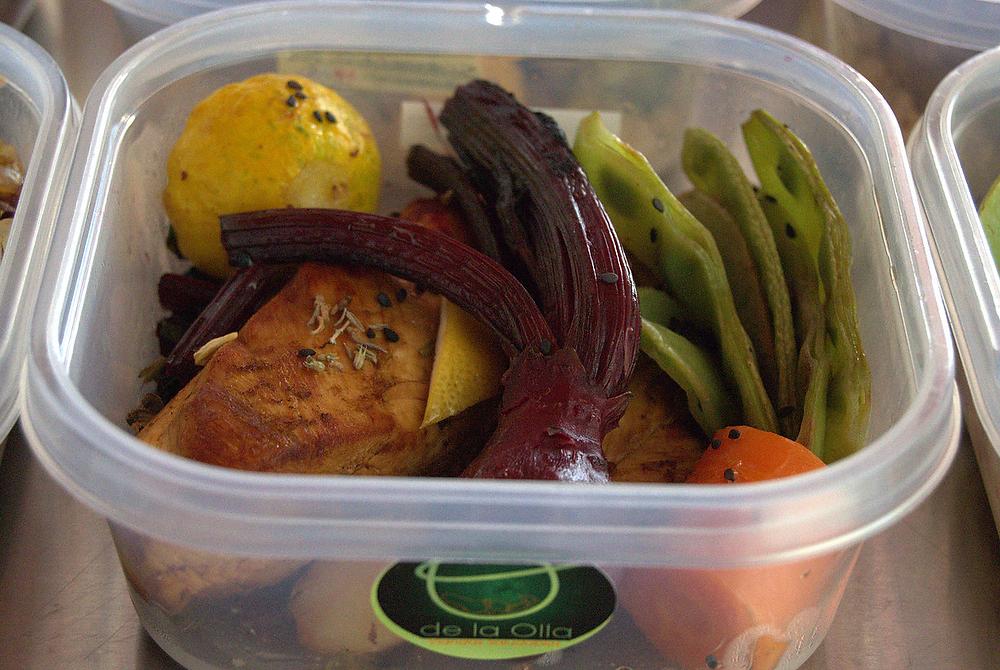 Pollo grille con vegetales