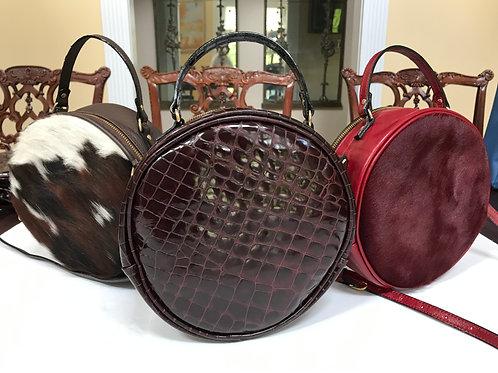 Gator Texture Circle Bag