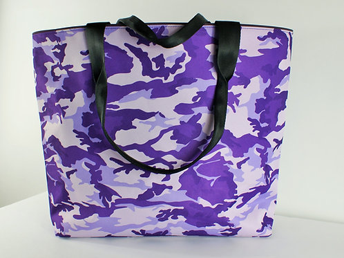 Tango Collection-- Tote Purple Camouflage