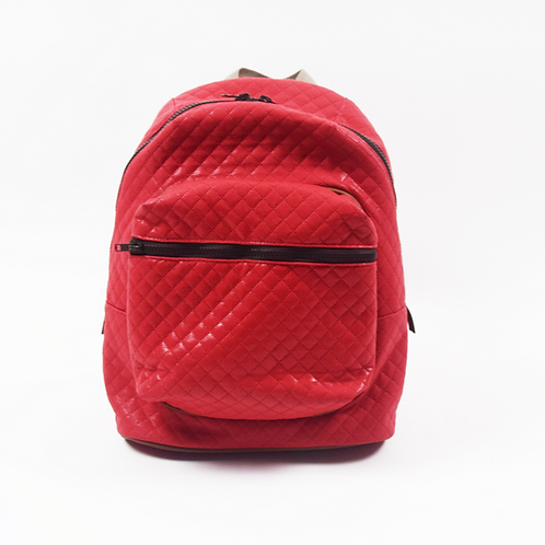 Nu Red Quilt Backpack