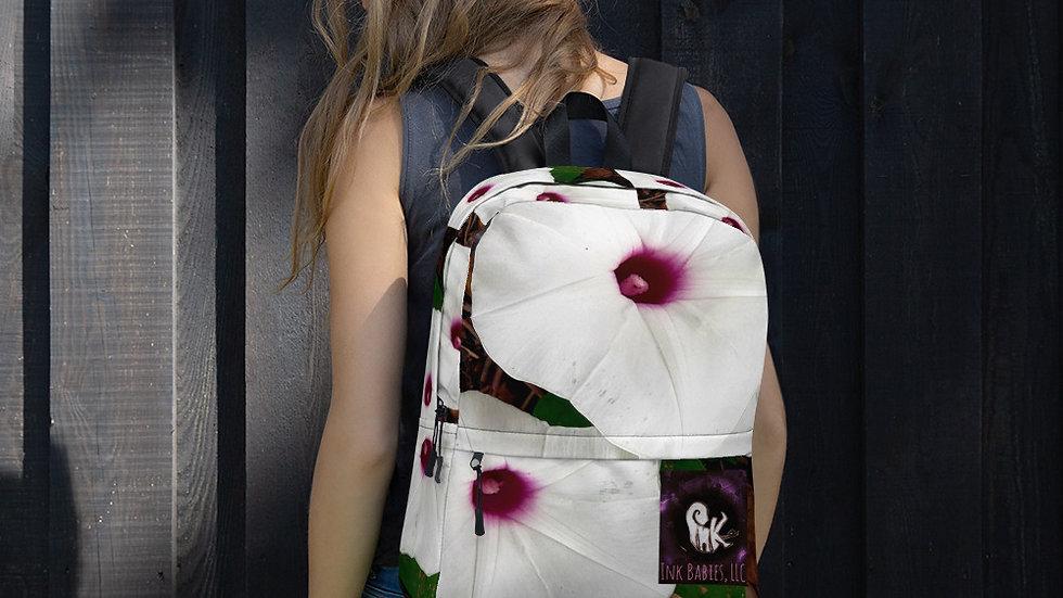 Ink Babies White Flower Backpack