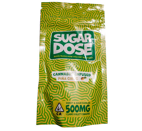 SUGAR DOSE PINA CANNABIS INFUSED GUMMIES 500MG