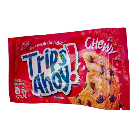 TRIPS AHOY! REAL CHOCOLATE CHIP COOKIES 600MG THC