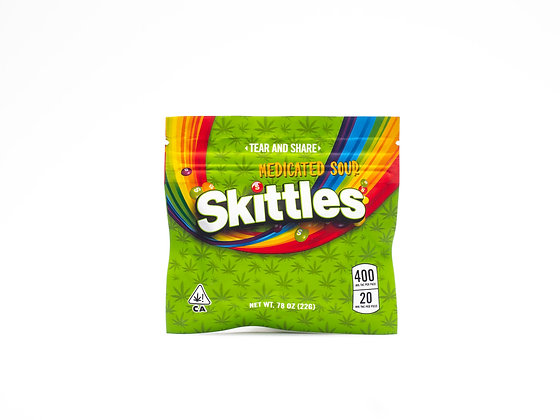 MEDICATED SOUR SKITTLES 400MG