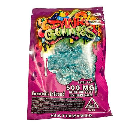 DANK GUMMIES CANNABIS INFUSED BLUE ROPE  500MG