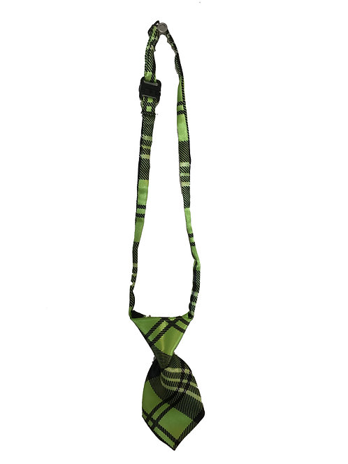 Small Green Plaid Tie