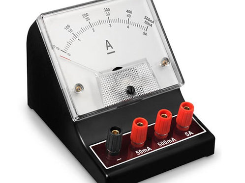 Nasco Student Meter - Range: 0-5/0-50/0-500mA, Triple Scale with DC Milliameter
