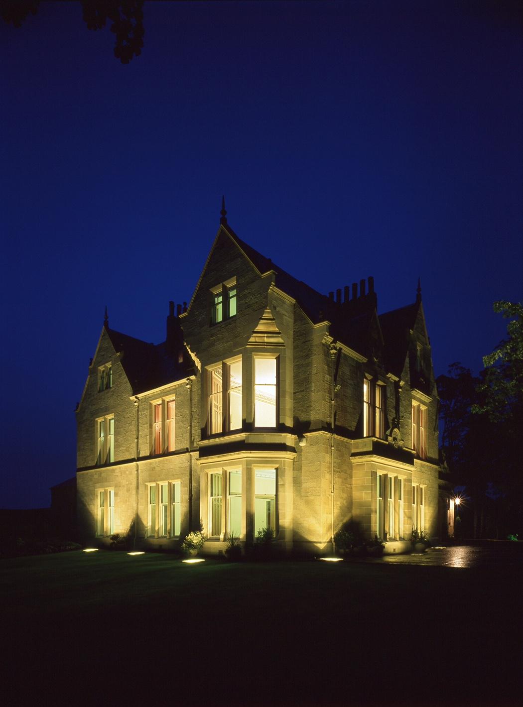 Kirkhill House at night