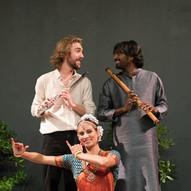 Spectacle au festival Berlioz avec Rishab Prasanna, bansuri, et Valérie Kanti Fernando, bharatanatyam