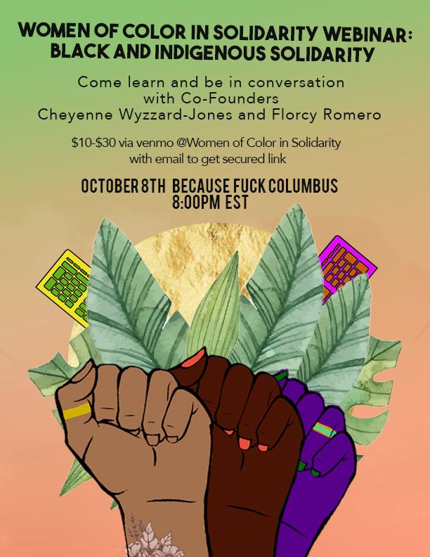 Women of Color in Solidarity Webinar