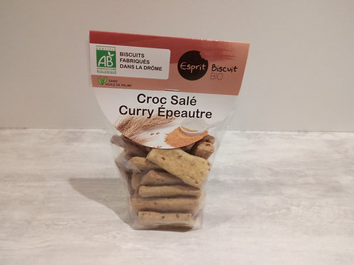 Biscuits Salés curry épeautre Bio 150g