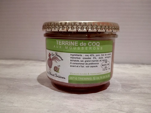 Terrine de Coq aux mousserons 190g