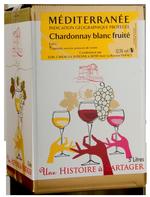 VIN la Suzienne Bag-in-Box IGP de Méditerranée Chardonnay Blanc  5 L