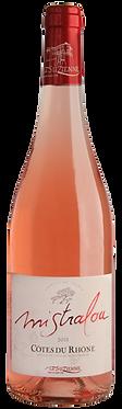"""VIN la Suzienne Côtes du Rhône """"Mistralou"""" Rosé  75 cl"""