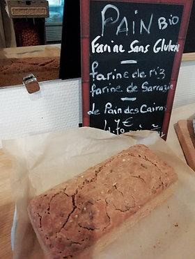 Pain farine sans gluten bio