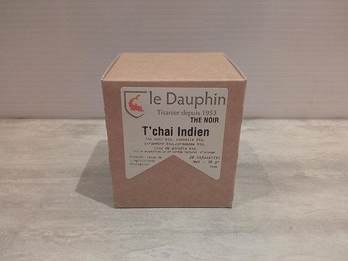 Thé noir 20 Infusion T'chai Indien Bio 38g