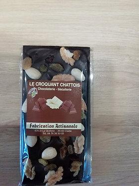 chocolat noir et fruits secs 100 g