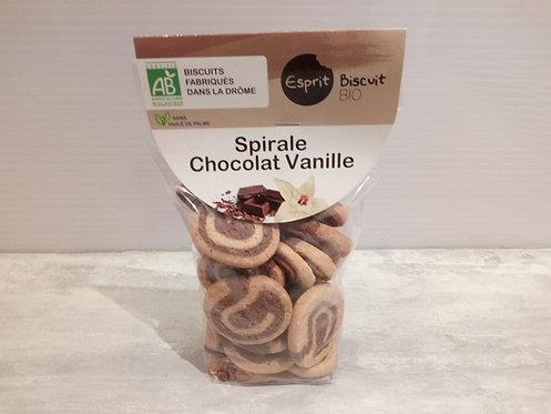 Biscuits. Spirale chocolat vanille Bio 200g
