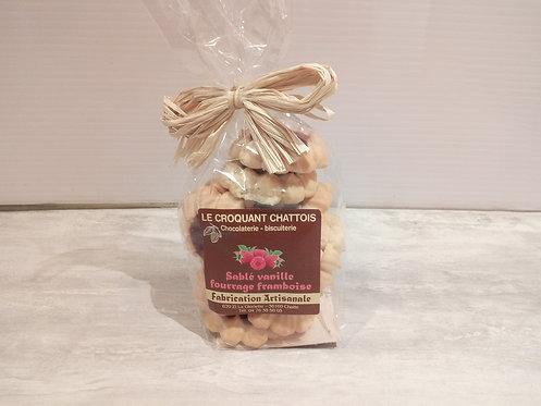 biscuits fourrés framboise 250 g
