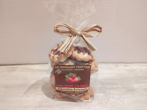 biscuits fourrés fraise  250 g