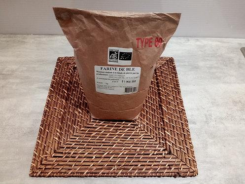 Farine de blé T80 Bio 1Kg