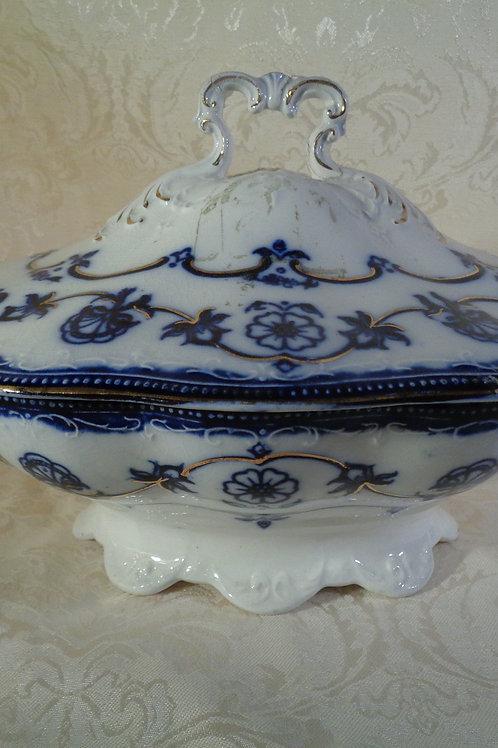 19th Century Flo-Blue tureen
