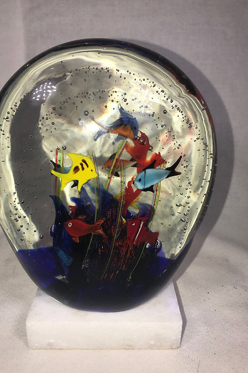Aquatic Signed Paperweight
