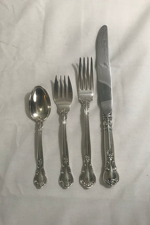 "Gorham ""Chantilly"" Sterling 6 Four Pc. Place-settings"