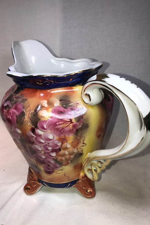 Limoges Hand Painted Pitcher