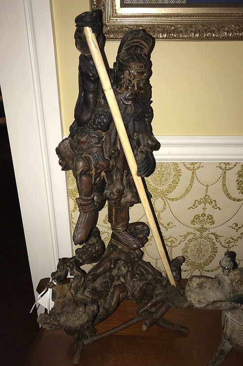 Hand Carved Chinese Warrior